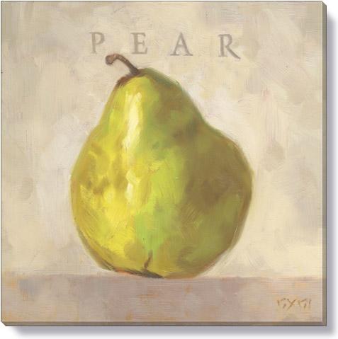 Pear Canvas Art Print - Darren Gygi