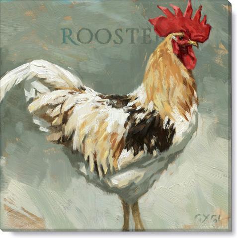 Rooster–Sir Crowlington Canvas Print - Darren Gygi
