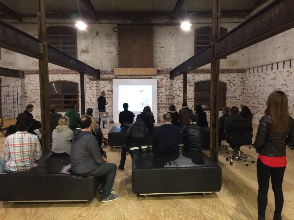 Online retailers at a meet-up presentation