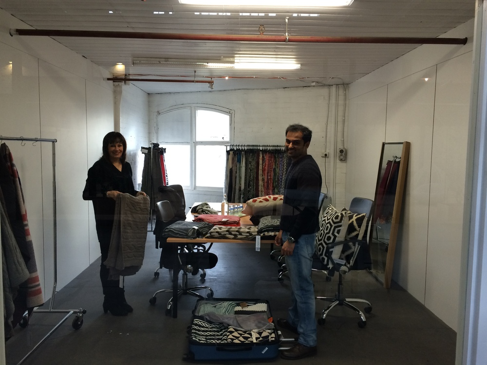 Karen & Sahil @ TheScarfCompany setting up for a customer meeting