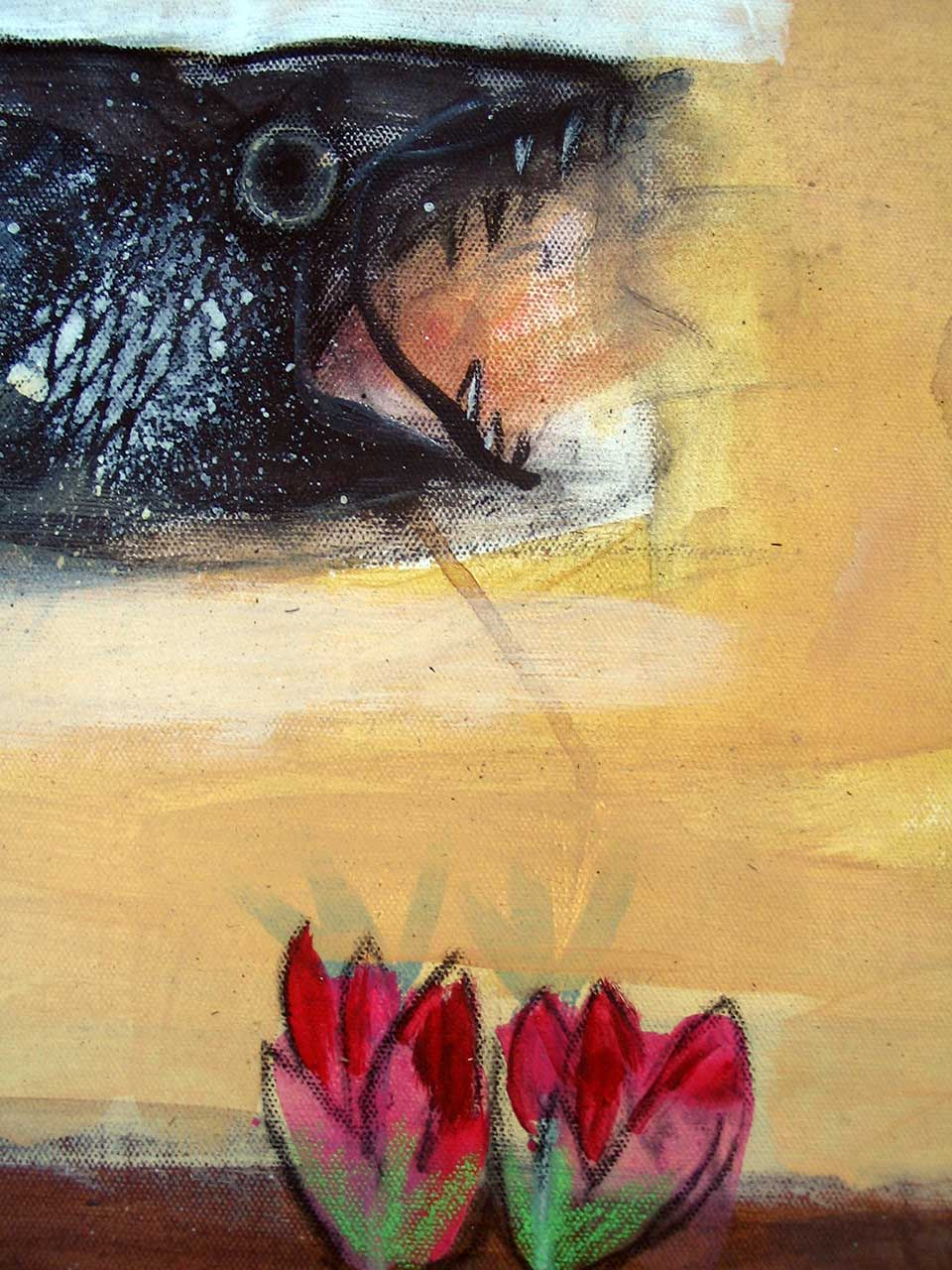 Detail, Fish and Lotus Flower.