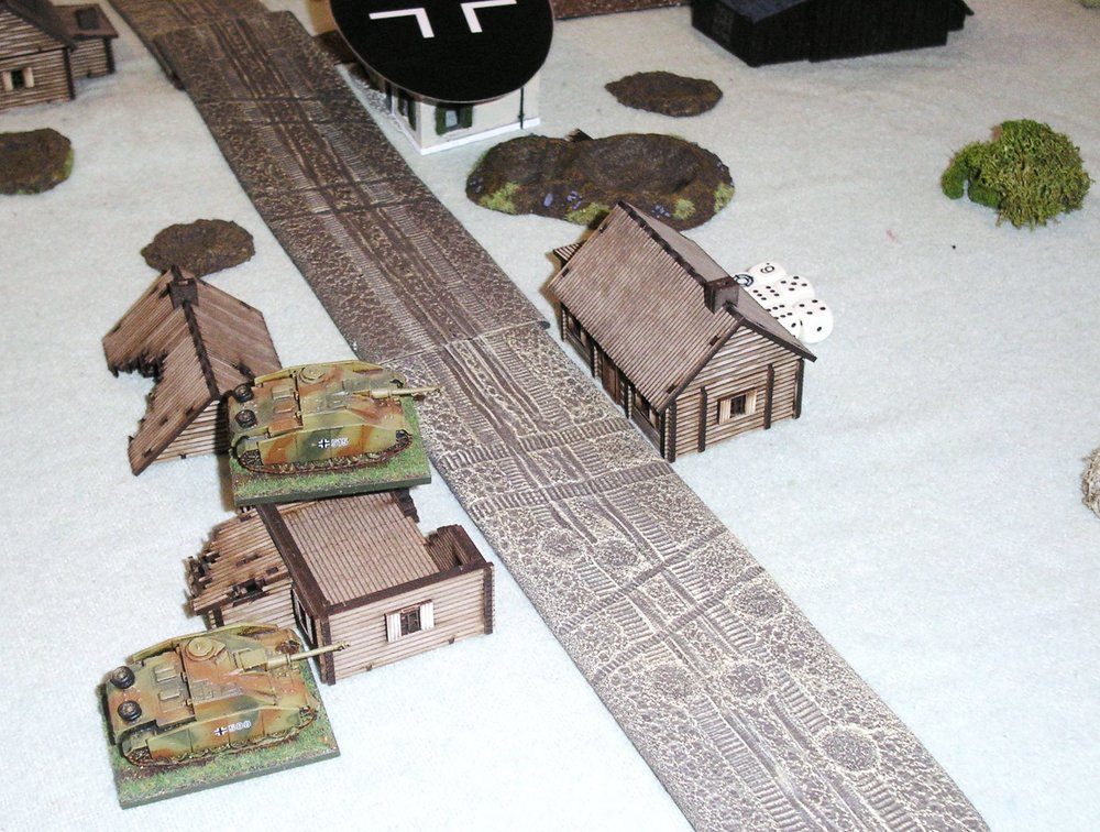 Two StuGs successfully defend the right flank