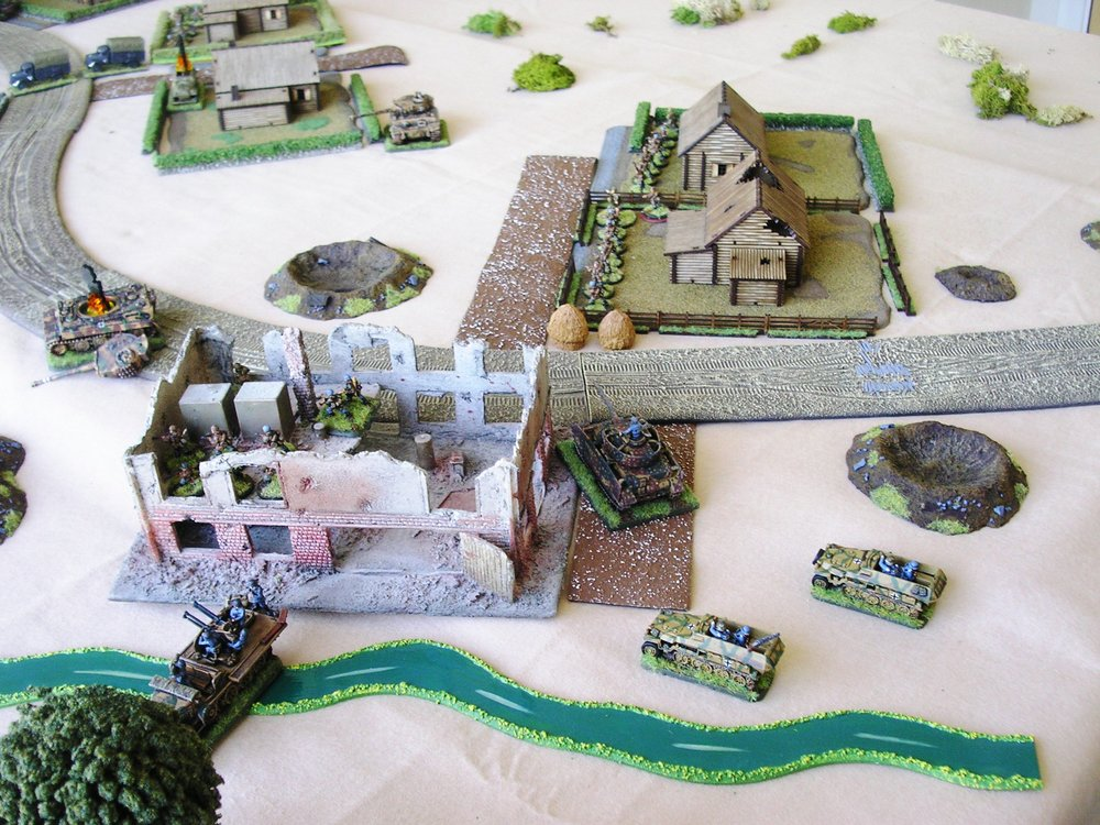 The German positions around the sawmill at the end of the game