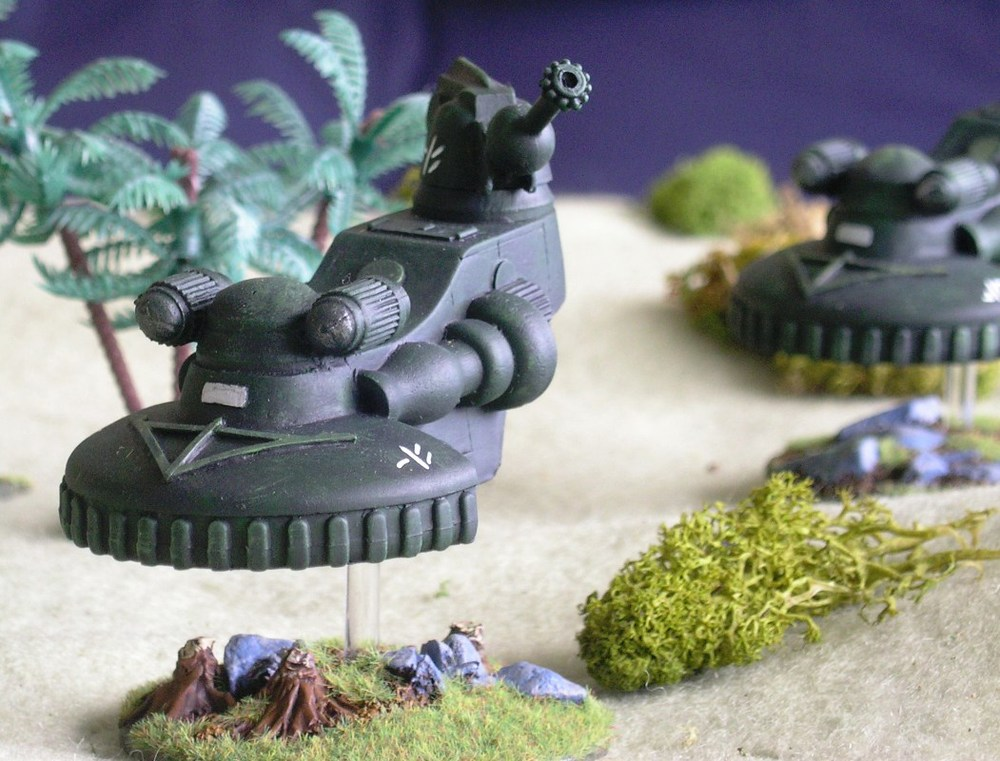 Flycatcher Tanks Advance Across the Battlefield