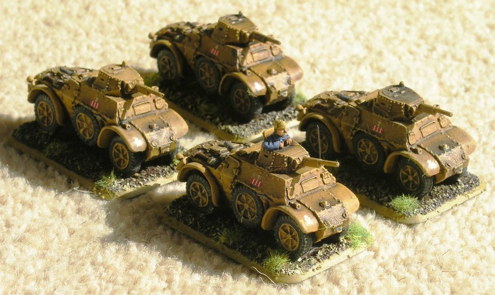 AB41 armoured cars from Battlefront