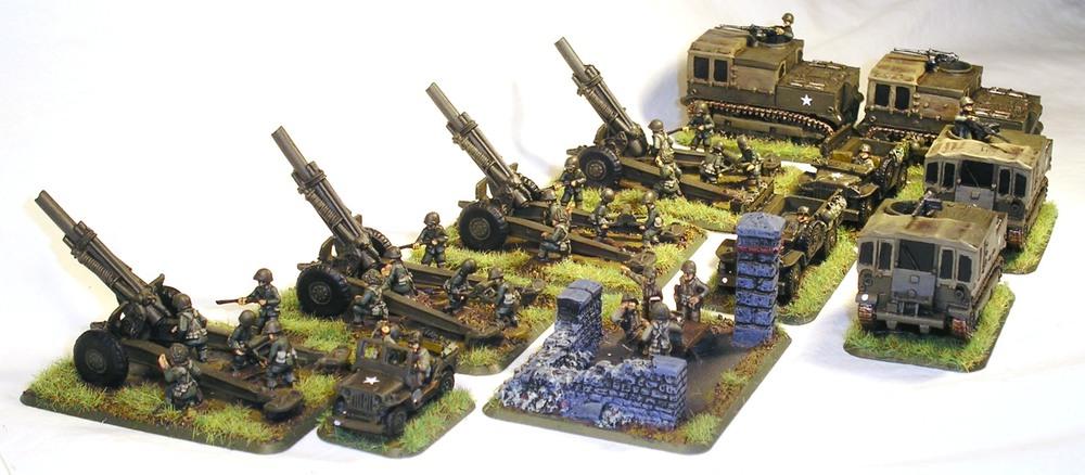 US medium artillery battery from Battlefront