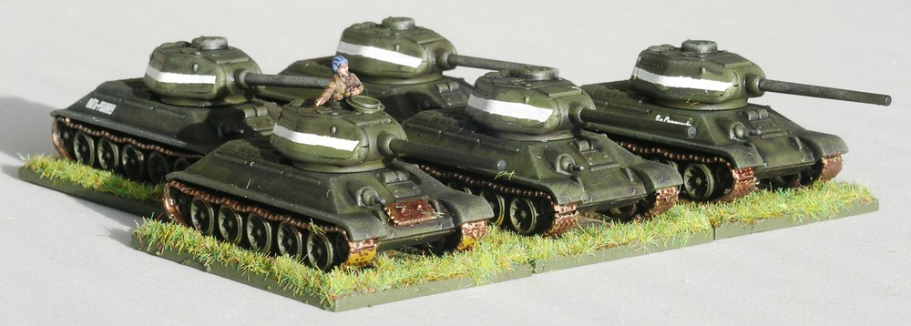 Now deployed as T-34/85s: same body, different turret