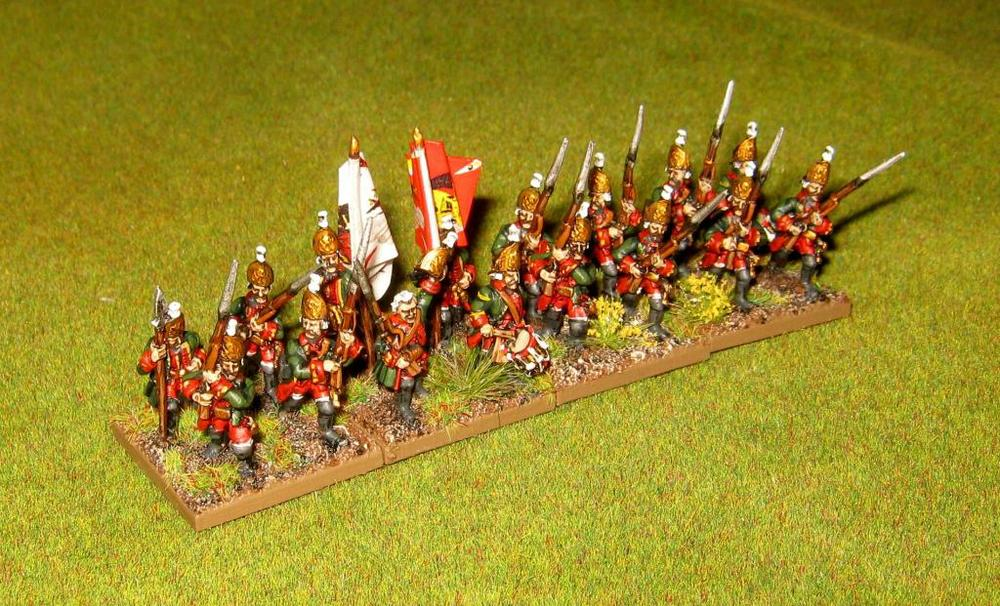 Here are Kev's 15mm Seven Year War Russian Grenadiers