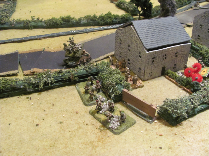 British move out after silencing the forward MG post
