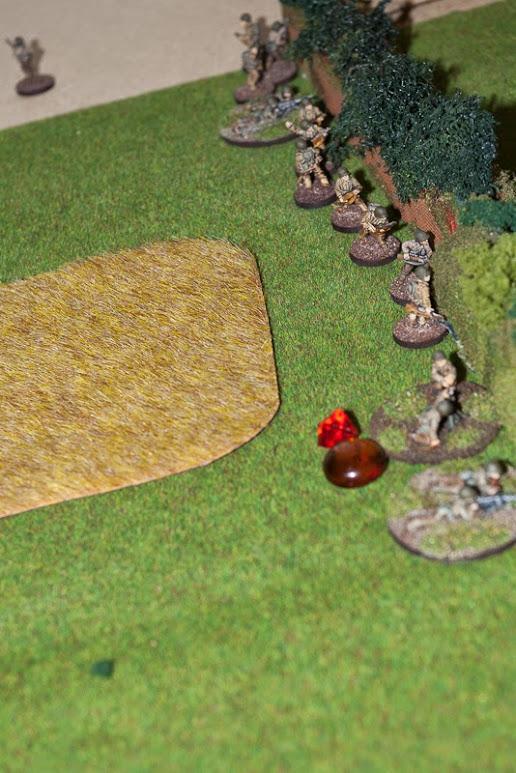 Stuck behind bocage, under 81mm barrage. Platoon had seen better days.