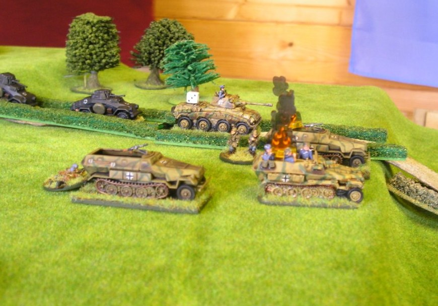Picture 16:  Not good for open-topped vehicles to be hit by artillery!