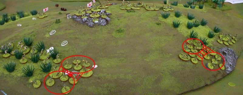 Fix bayonets! Banzai! charges are fought! Note the use of the Litko IABSM markers!