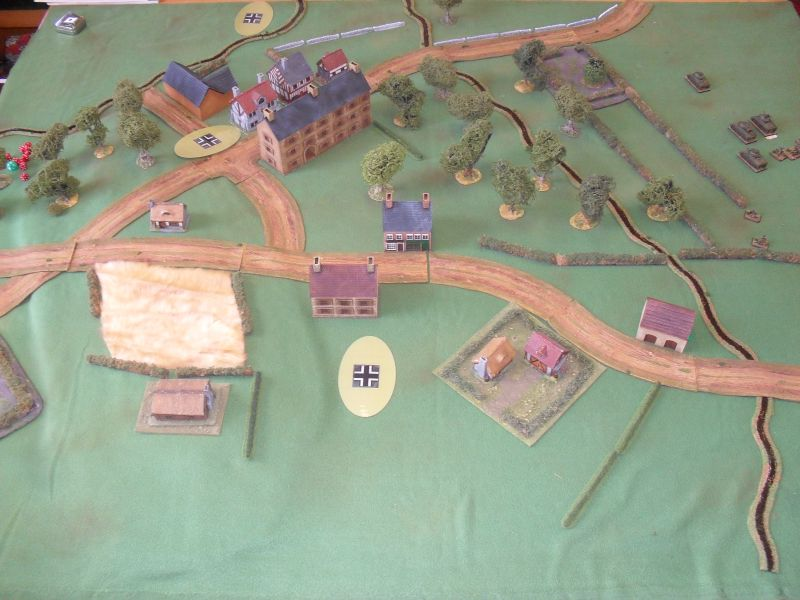 As the Sherman troop switches the axis of attack, the Germans move up supports.