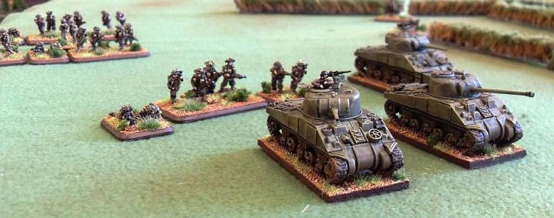 Sherman troop supported by a Rifle platoon