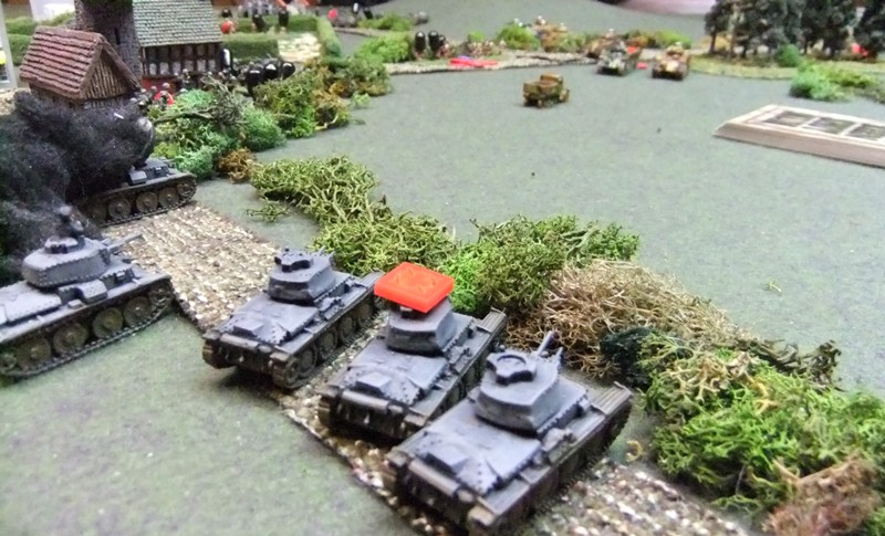 Panzers in a gunfight