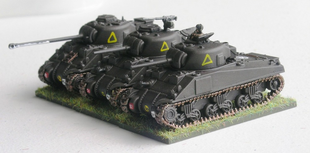 "(understrength) TRoop one (2/3 x shermans, 1 x  sherman VC ""firefly"")"