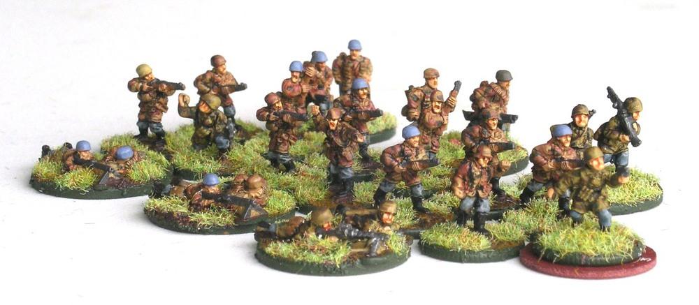 1st platoon(3 x Rifle/SMG Squad, 2 LMGs)