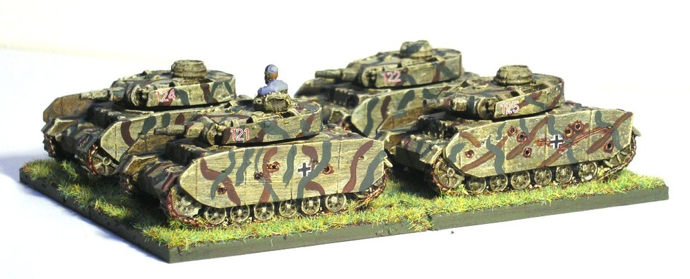 (Understrength) Zug Three (4/5 x Panzer III N)