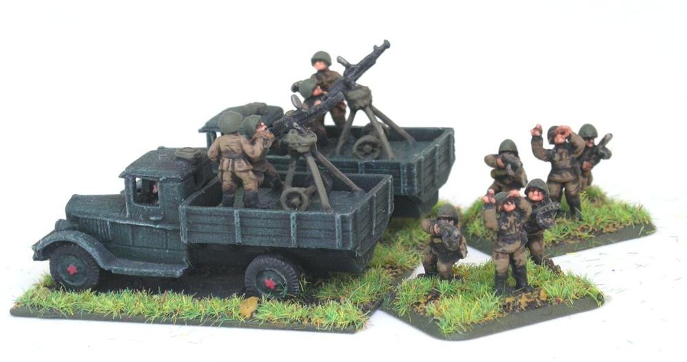 Anti-Aircraft Vzvod (2 x DShK AA HMGs on Trucks)