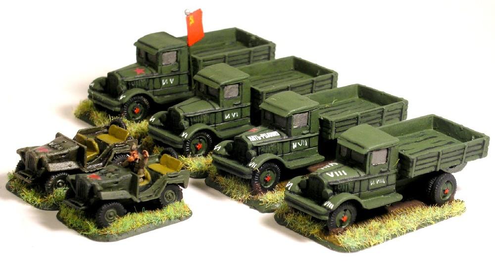 Company Transport(Trucks/Gaz Jeeps)