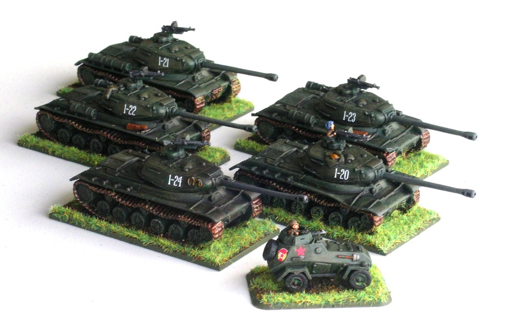Guards Heavy Tank Rota(5 x IS-II with scout BA-64)