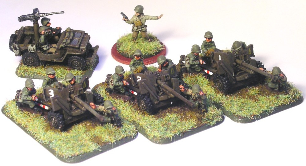 Anti-Tank Platoon  (3 x 57mm Anti-Tank Guns, Transport Missing)