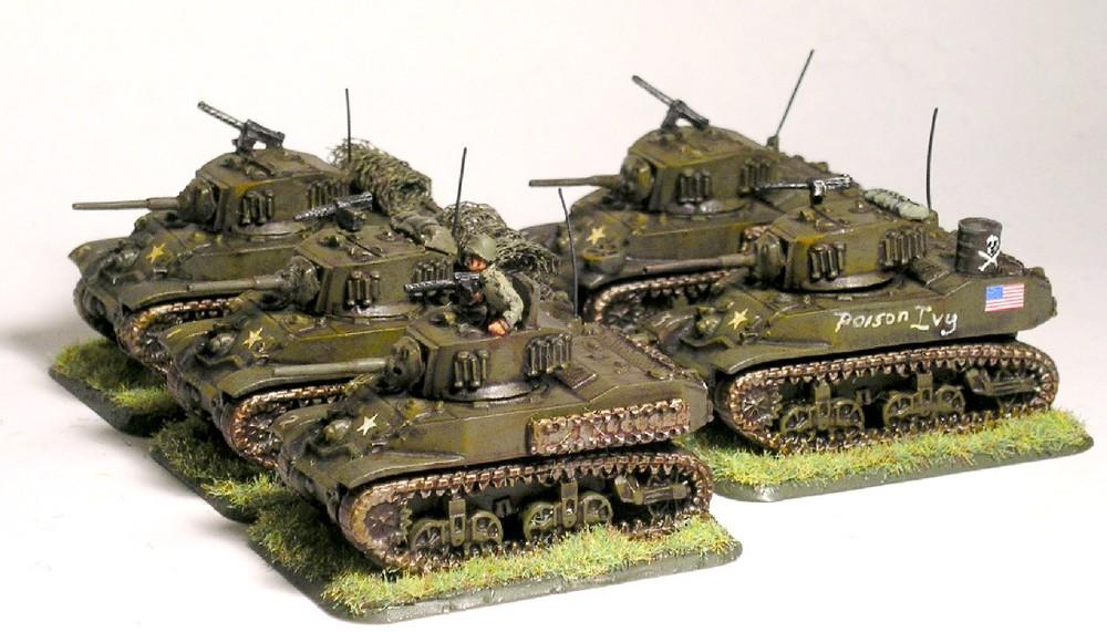 Light Tank Platoon (5 x M5A1 Stuart)