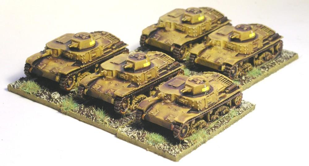 1st Platoon M11/39 Tanks