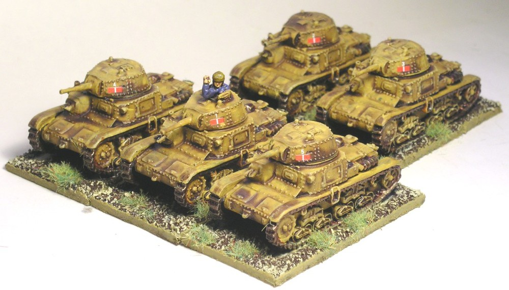 1st Platoon M14/41 Tanks
