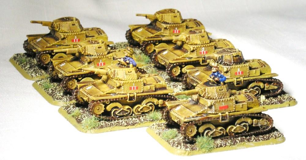 Platoon L6/40 Tanks
