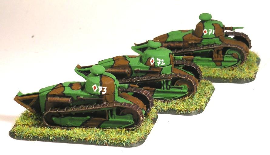 1st Platoon (3 x FT-17)