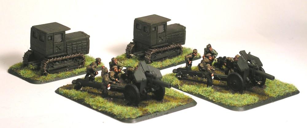 Heavy Gun Section(122mm M38 Guns)