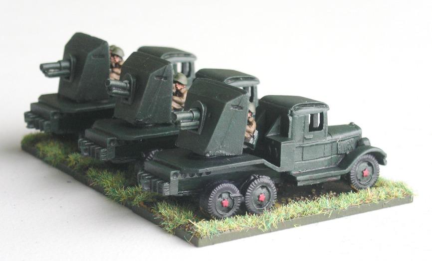 SU-12 Battery(75mm Guns on Gaz Trucks)