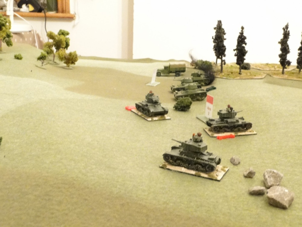 T26s panic with Germans front and rear.