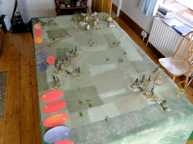 The battleground, Soviet Blinds mass for the assault