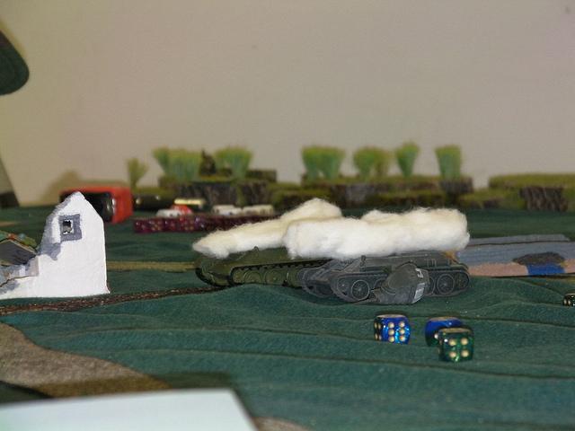 Dead Soviet tanks