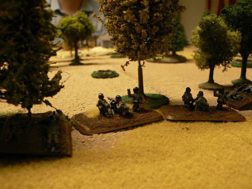 THE GERMANS MGS ARE READY FOR ANYTHING COMING THEIR WAY. LITTLE DID THEY KNOW WHAT WOULD EVENTUALLY SHOW UP...
