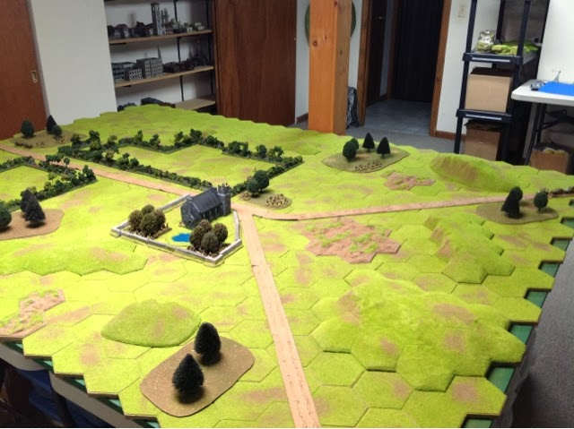 The Germans entered in waves from both roads, recon elements first