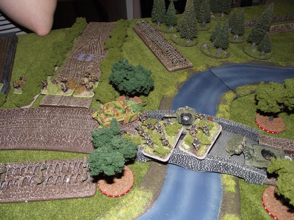 Again German MG42 fire cuts them down. Losing a further six men.