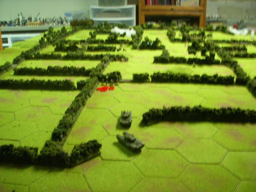 Tanks start to move up...travelling quickly through the scouted territory