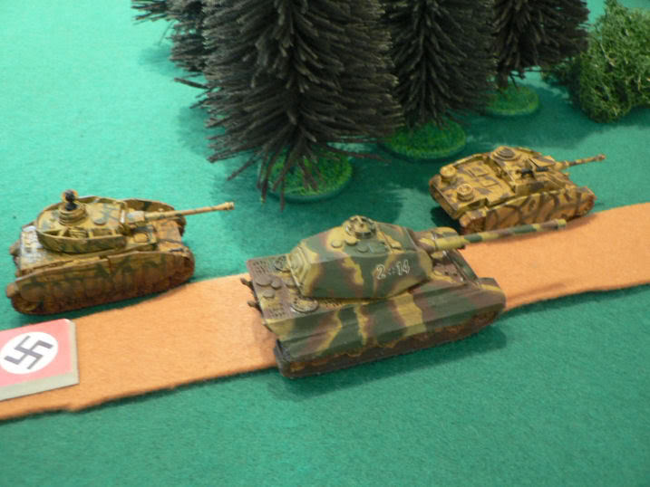 ...for the oncoming Panzer zug with a KING TIGER!