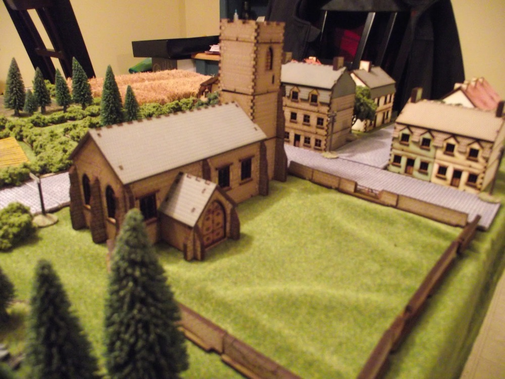 The Church is the center piece in the town (like most French towns). All the models are from 4-ground and they are EXCELLENT ! very easy to assemble and are just awesome. I cannot say much more than that. I bought them from J&M miniatures.. who handled my sale very well. Much thanks.