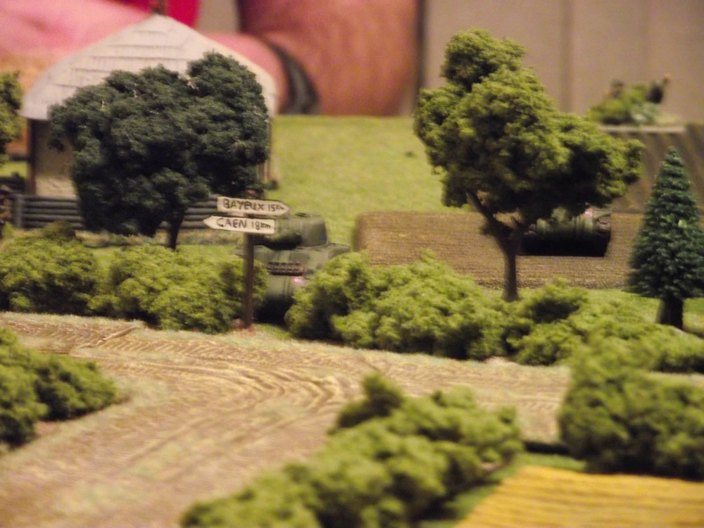 David moves up his Firefly to take up engage orders along the hedge.