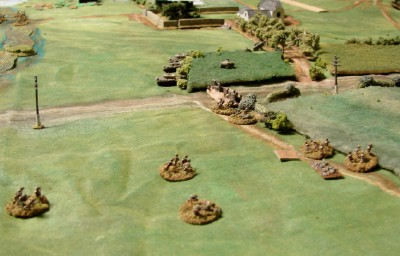Brits Moving to First Objective Line