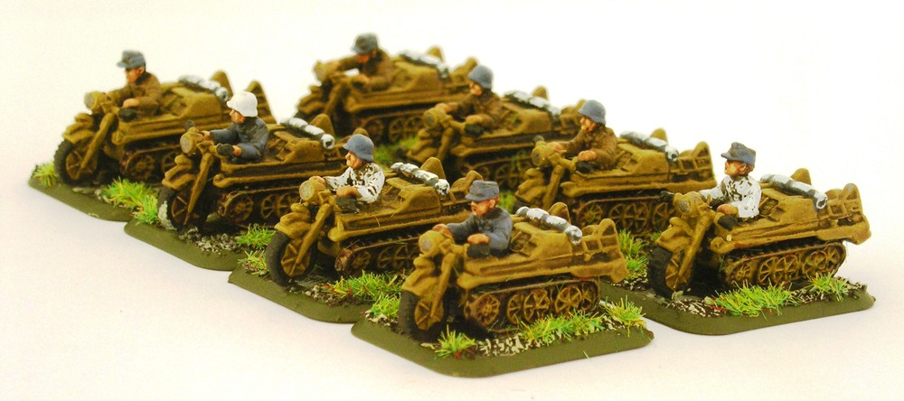 Battalion Transport/Tows: 8 x kettenkrad