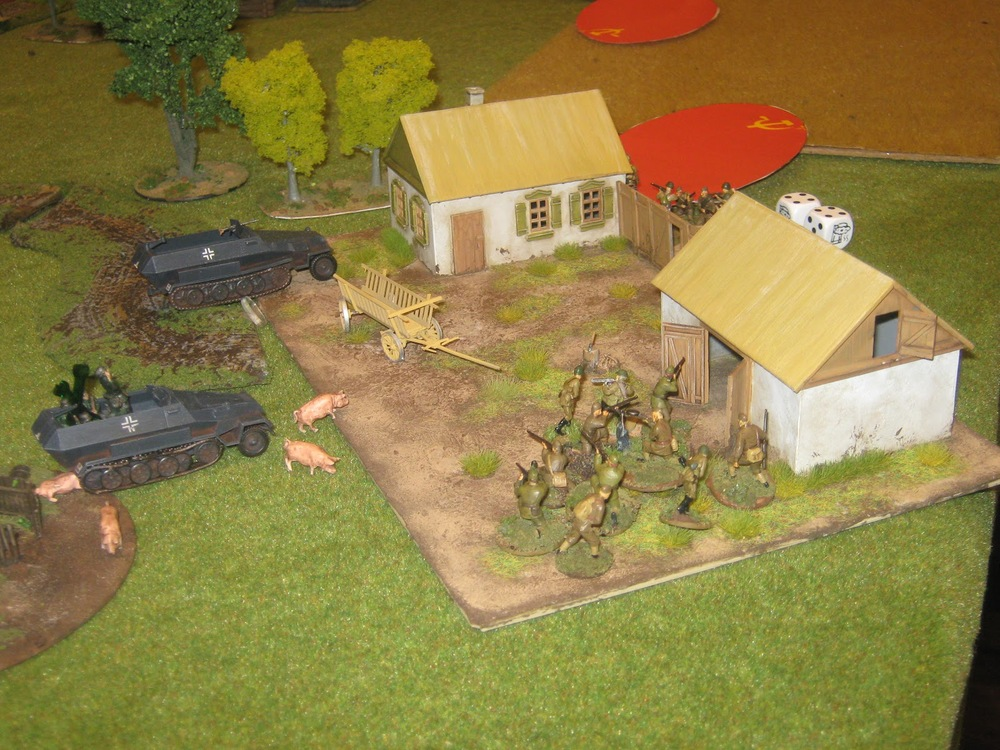 …but the barn was also filled with commies, totally wiping out the assaulting squad (they are really inside the barn)