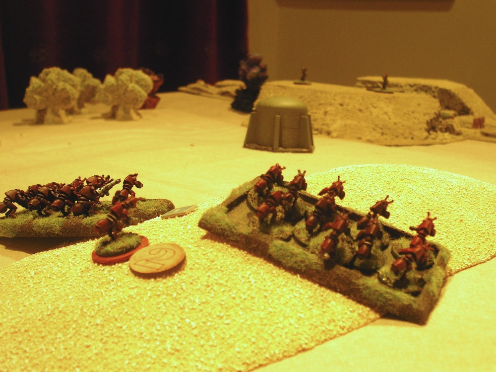 The Adult Bug platoon pin the garn down