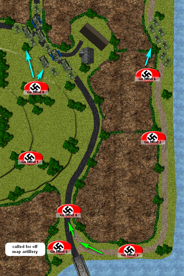 Turn 2 has the US troops placed on the map