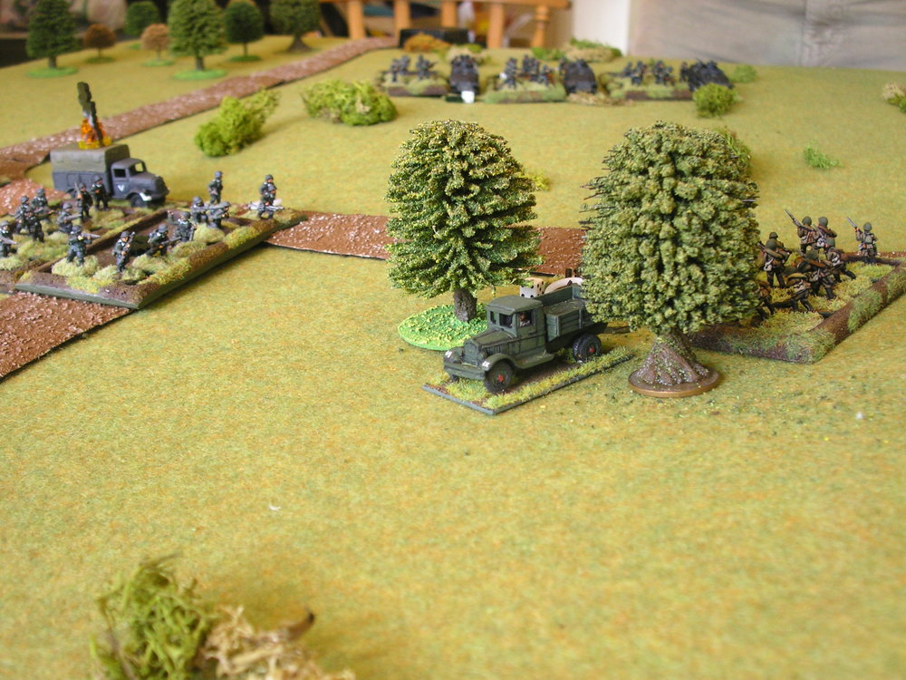 Aftermath of the Soviet charge 1: the soviet infantry have been bounced back, but the germans have been badly damaged
