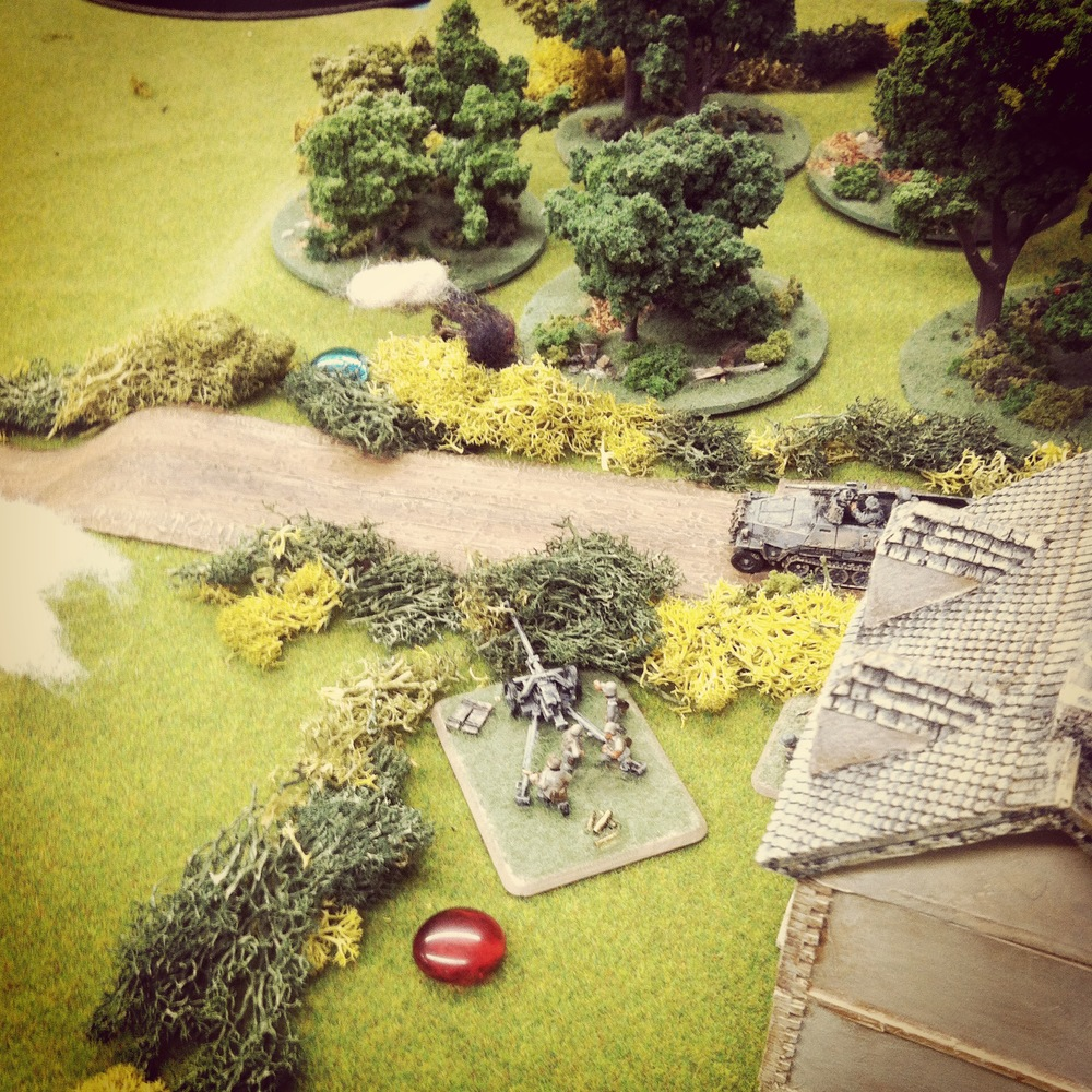 A late game push up Hill 91 by the US Greyhound leaves it in flames